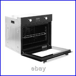 70L Built-in Oven Single Electric Fan Oven -Stainless Steel LED Display -Timer