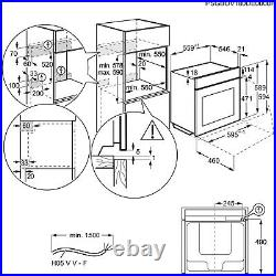 AEG BEB355020B 71L Electric SteamBake Single Oven Black BEB355020B