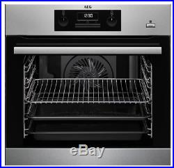 AEG BEK351010M A Rated Built In Single Oven with Steam-Bake Function