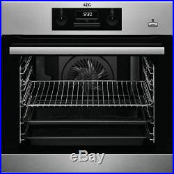 AEG BEK351010M Integrated Built In SteamBake Electric Single Oven, RRP £369
