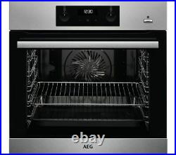 AEG BES356010M SteamBake Built In Multifunction Single Oven A117209
