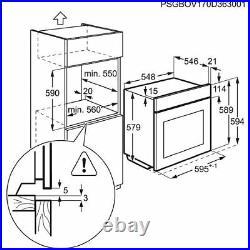 AEG BPK742320M Built-In Electric Single Oven A+ Pyrolytic HA2804