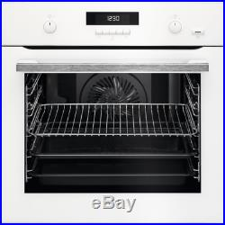 AEG BPS551020W 60cm Electric Built-in Pyrolytic White Single Oven