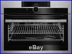 AEG KPE842220M Built In Compact Pyrolytic Electric Single Oven FA8854