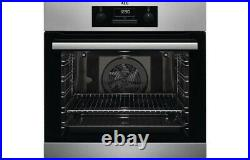 AEG Single Electric Fan Oven Integrated Built In Stainless Steel Mechanical