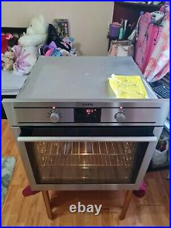 AEG multifunction single electric oven built-in stainless Steel 60cm
