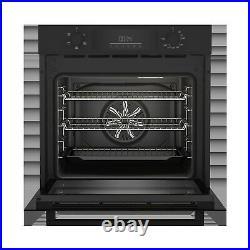 Beko 72L Built-in Electric Fan Single Oven Black