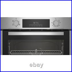 Beko 72L Electric Built-in Single Oven with Steam Cleaning Stainless Steel