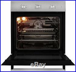 Beko BIF22100X Built-In 59.4cm Single Electric Fan Oven Stainless Steel