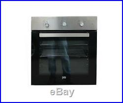 Beko BIG22101X Built in Integrated Single Gas Fan Oven Stainless Steel