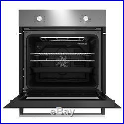 Beko Multifunction Built in Oven and Ceramic Hob Pack QSE222X Black Single