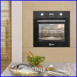 Black LED Display Timer 60cm Built-in Single Rack Electric Oven Plug uk 50-250