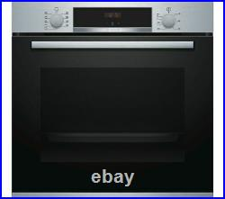 Bosch Built In Single Electric Fan Oven With Grill HBS534BS0B Stainless Steel