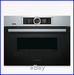 Bosch CMG676BS6B Built-In Combination Microwave Single Oven With Home Connect