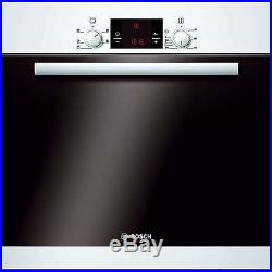 Bosch HBA13B120B Classixx White 3D Hot Air Electric Built-in/under Single Oven