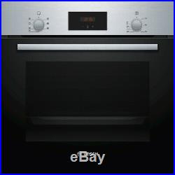 Bosch HBF113BR0B Serie 2 Built In 59cm A Electric Single Oven Stainless Steel