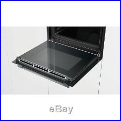 Bosch Serie 8 HBG673BB1B Builtin Black Single Oven Electric Pyrolytic Cleaning