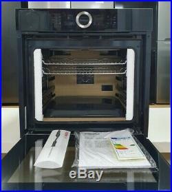 Bosch Serie 8 HBG6764B6B A+ Built-In Electric Smart Single Oven Black WiFi