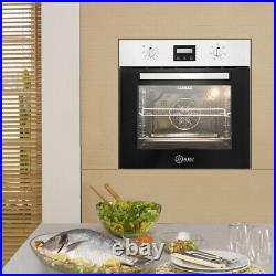 Built-in Single Rack Electric Oven Plug Fitted 50-250 60cm LED display Timer