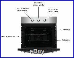 Bush BIBFOBA Easy Clean Built In Single Electric Oven 63L Black