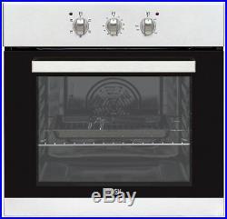 Bush BIBFOS Single Built-In 59.5cm Single Electric Fan Oven Stainless Steel