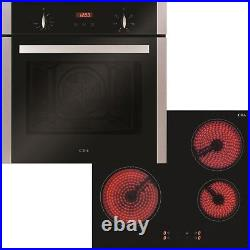 CDA CBC203SS Hob Oven Pack 4 Zone Ceramic Hob and Fan Single Oven