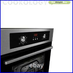 Cookology 60cm Single Built-in Programmable Fan Oven & Gas Hob Pack in S/Steel