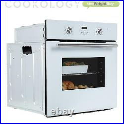 Cookology White Fan Oven, Single Electric Built-in Digital timer, 60cm, COF605WH