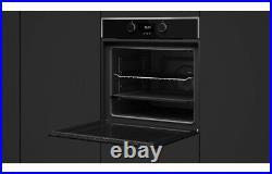 Designer Black Modern 60cm Black Built in Single Electric Fan Oven Touch LED