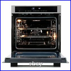 ElectriQ 72L 13 Function Full Fan Touch Control Single Oven in Sta EQOVENM4STEEL