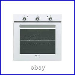 ElectriQ 73L 8 Function White Fan Assisted Electric Single Oven Supplied with