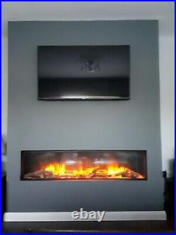 Evonic Fires E1500GF Electric Inset Built In Mounted Electric Fire Single Side