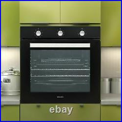 Extra Large Capacity 75 litre Built-in Fan-Assisted Single Oven with plug