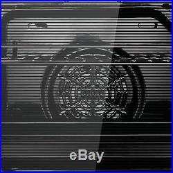 GRADED Cookology COF600BK 60cm Black Built-in Single Electric Fan Forced Oven