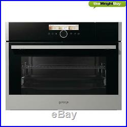 Gorenje BCS598S24XUK Built-in Compact Steam Multifunction Oven, Single 45.5cm