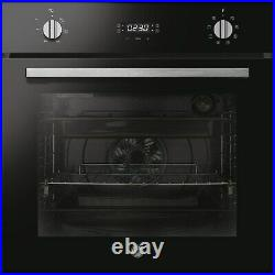 Hoover 8 Function Electric Single Oven with Hydrolytic Cleaning Black