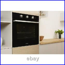 Indesit IFW6330BL Four Function Electric Built-in Single Oven Black IFW6330BL