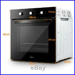 Kitchen Electric Fan Single Grill Built-in Oven Tempered Glass 4 Model 71L New
