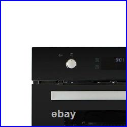 Large 68L Pyrolytic Self Cleaning Electric Single Oven in Black