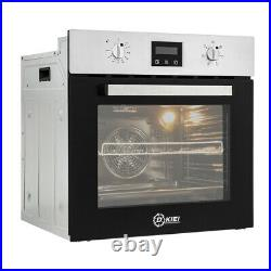 Multifunctiol Built-in Oven LED Display Single Electric Fan Oven Stainless Steel
