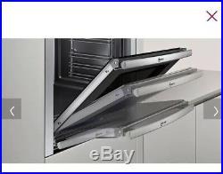NEFF 60CM B44S32N5GB BUILT IN SINGLE OVEN Slide&Hide 67L Black & Stainless Steel