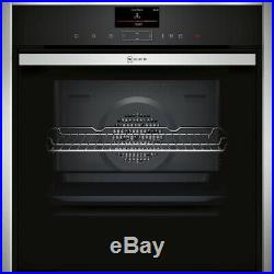 NEFF B47FS34H0B N90 Slide&Hide Built In 60cm A+ Electric Single Oven Stainless