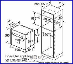 NEFF B57CR22N0B Slide&Hide Built-in Integrated Single Oven, RRP £790