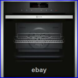 NEFF B58VT68H0B N90 Slide&Hide Built In 60cm A Electric Single Oven Stainless
