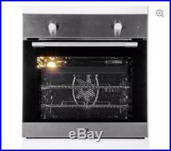 NEW LOGIK LBFANX16 66L Built in Electric Single Oven Fan Stainless Steel 60cm