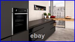 Neff B6ACH7HN0B Slide & Hide Electric Built In Single Oven Stainless Steel Black