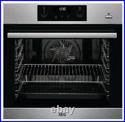 New AEG BEK355020M Built In Single Electric Oven Stainless Steel COLLECTION