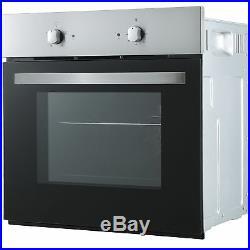 Refurbished Cookology SFO57SS 60cm Built-in Single Electric Fan Oven, S/Steel