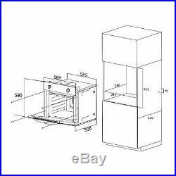 SIA 60cm Single Electric True Fan Oven And 70cm Black 5 Burner Gas On Glass Hob