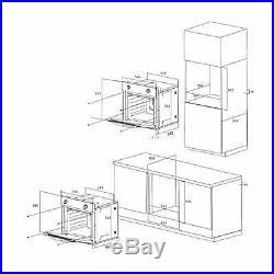 SIA 60cm Single Electric True Fan Oven And Black 4 Burner Gas On Glass Hob